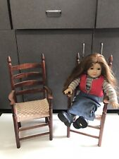 "Beautiful lot 2 Wooden Chairs fits 18"" American Girl Dolls"