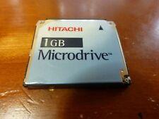 Hitachi 1 GB COMPACT FLASH CF + Type Microdrive: modello II DSCM 11000 Testato