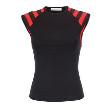 BodyFitees Ladies/Girly Vest-Fitted Punk Gothic Rock Metal Tank Top Summer Vest