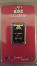 5 Gram Republic Metals Corp gold bar .9999 Fine in Assay