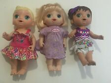 Baby Alive Lot of 3 Dolls Unique Different Set