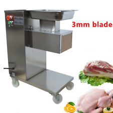 110V Commercial Meat Slicer with 3mm Blade Stainless Steel Cutting Tool Pork