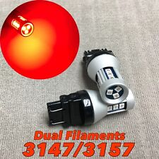 Front Turn Signal Parking Red SMD LED Bulb T25 3057 3157 4157 SRCK 15 W1 LGM A