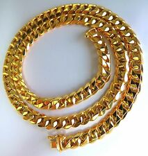 18kt Gold Classic Cuban Link Necklace 16 inch/ 47Gm