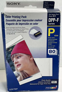 New Sony SVM-F80P Color Printing Pack  3 Packs Paper + Ink Expired 6-2006