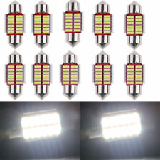 6Pcs 12SMD 4014 31mm LED Lights Dome Festoon Canbus Internal Plate Lamp White