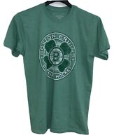 Boston Bruins Old Time Hockey Shamrock St. Patrick's Day GREEN T-Shirt Men's M