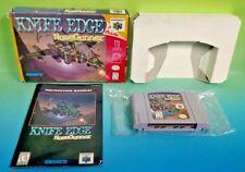 Knife Edge: Nose Gunner Nintendo 64 N64 Game Rare Complete Box + Manual