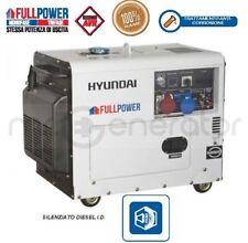"Gruppo elettrogeno generatore 7,5kVA HYUNDAI SILENZIATO DIESEL ""FULL POWER"""
