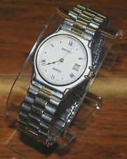 Speidel Quartz Swiss Gold Toned & Silver Unisex Wrist Watch w/ Expandable Band!
