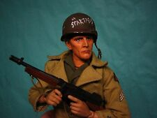 "1/6 Scale 12"" KIRK DOUGLAS WWII CUSTOM ARMY USA SOLDIER OOAK"