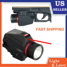 Tactical Red Laser Sight &CREE LED Flashlight Combo For Pistol Gun Camping Light