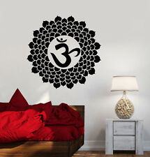 Vinyl Decal Mandala Bedroom Decor Om Hindu Sanskrit Buddhism Stickers (ig3592)