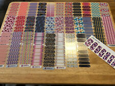 Large Jamberry Lot W/ 47 Full Sheets, 83 Half sheets, 77 Partials Detailed List