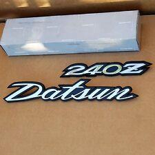 Datsun 240Z Deck Lid Hatch Emblem Set, 1970-1973 *NOS, OEM Original*