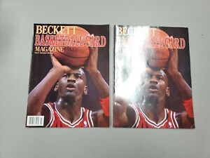 Lot 2 1990 March/April Beckett Basketball Card Magazine Issue #1 Michael Jordan