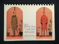 Betty Rose 1965 Fall Style Guide CATALOG w/ Fabric Pattern Swatches RARE vtg