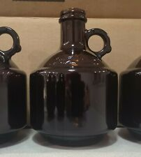 Case of 6 - 32 oz / 1 Liter Amber Glass Beer Growler Bottle New, With Lids