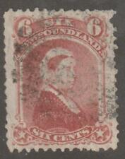 Newfoundland 1870 #35 Queen Victoria Fine Used 2