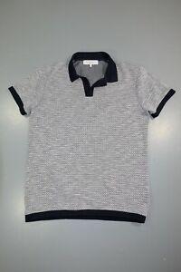 Orlebar Brown Jacquard Felix Vintage Cloud Polo Shirt Size L
