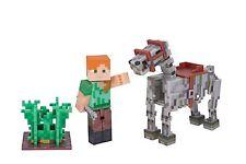 Minecraft ALEX FIGURA & Esqueleto Horse 7.6cm Figura de acción