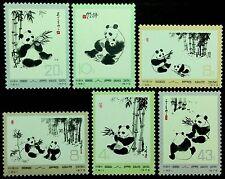 Pr China 1973 N57-N62 Panda Mnh