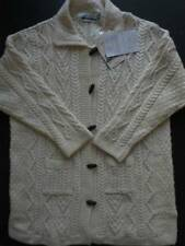 NWT Aran Crafts Sweater XXL 2XL Irish Merino Wool Natural Ivory Cables Cardigan