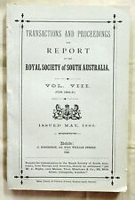 Transactions Proceedings and Report of Royal Society of South Australia 1884-85