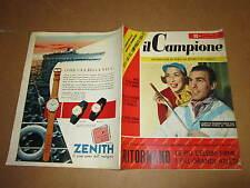 RIVISTA SPORTIVA IL CAMPIONE ANNO 1956 ANNO II° N°37 L-MASIERO GROSSO VIGORELLI