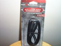 2 RCA MALE TO 2 RCA FEMALE 3FT EXTENSION CABLE STEREO # 11-1603 1 PIECE