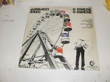 ENZO JANNACCI - O VIVERE O RIDERE - ORIG LP 1976 RARE - ULTIMA SPIAGGIA RECORDS