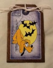 5 WOODEN Halloween MICKEY MOUSE Ornaments, HangTags,GiftTags,Ornies SET@m