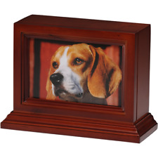 BIRCH PHOTO FRAME PET URN IN CHERRY - 2ND QUALITY - FREE SHIPPING U.S. - B013-C