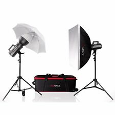 GS200II Ventilador Cool Bowens S Ajuste Studio Flash Kit doble retrato de bebé desnudo D-lite Rx
