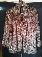 Gallery Woman Faux Fur Leopard Coat Size 3x Plus Size Jacket Great Condition!!!