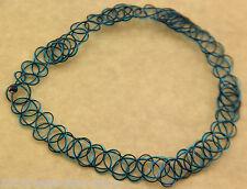 black&blue Tattoo Choker Elastic Necklace Pendant Grunge 90s Festiv adjustable