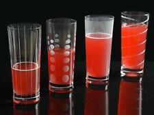 Set of 4 MIKASA Cheers CRYSTAL GLASS Highball Tumbler Glasses