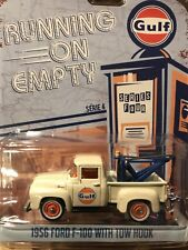 Greenlight Running On Empty 1956 Ford F-100 Tow Truck  GULF OIL