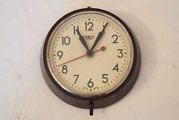 "1940s SMITHS SECTRIC 6"" VINTAGE BAKELITE ELECTRIC INDUSTRIAL SCHOOL WALL CLOCK"