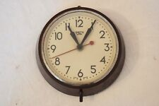 "1940s SMITHS SECTRIC 6"" VINTAGE BAKELITE ELECTRIC INDUSTRIAL SCHOOL WALL CLOCK"