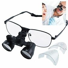 Galilean Style Titanium Frame 2.5x Magnification Dental Loupes Binocular, 100mm