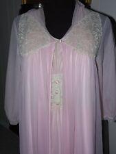 Fabulous Vintage Pink Charmode Peignoir~Gown & Robe ~Size 32~ Made USA