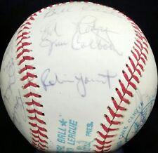 1976 Milwaukee BREWERS Team Signed OAL Baseball ROBIN YOUNT hof vtg auto 70s