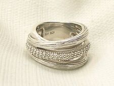 Estate Sterling Silver Effy Balissima BH Signed Diamond Ring