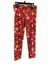 One Step Up Girls Leggings Red Christmas Santa And Snowman