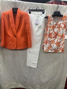 """KASPER PANT SUIT/SIZE 18/INSEAM32""""/NEW WITH TAG/RETAIL$240/TANK TOP INCLUDED"""
