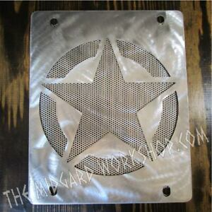 Spare tire delete plate fite: 06 07 08 09 2010 Hummer H3 Army Star