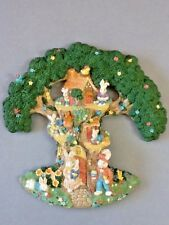 Beautifully Decorated Easter Bunnies in a Tree Wall Hanging Decoration