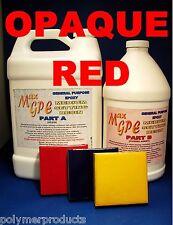 EPOXY RED ART RESIN GEL COAT 4 BOAT COATING CASTING WATERPROOF ART RESIN 1.5gal!