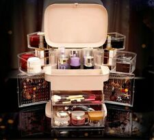 LED light makeup storage box with mirror
